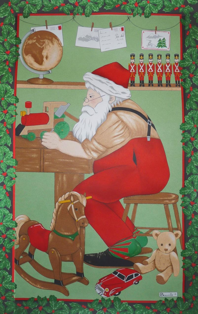 torchon atelier Père Noel