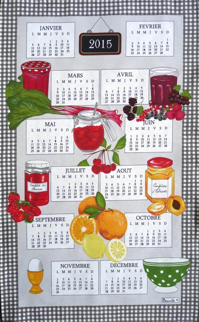 Torchon calendrier petit dej 2015
